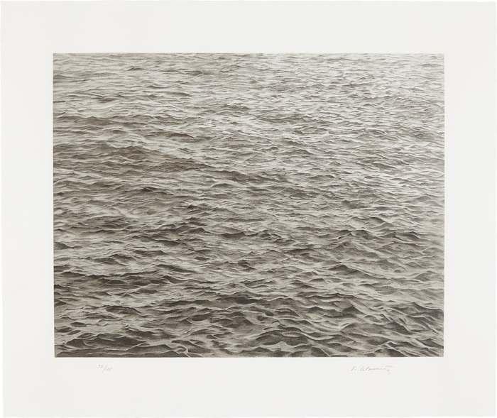 Vija Celmins-Ocean with Cross #1-2005