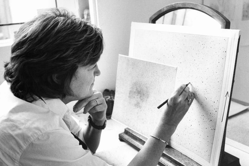 Vija Celmins is one of the most famous women painters from Lithuania