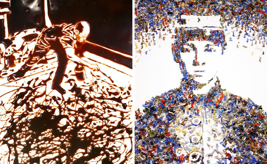 Action Photo after Hans Namuth, from the series Pictures of Chocolate, 1998 / Toy Soldier, from the series Monads, 2003