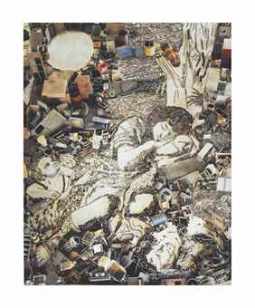 Vik Muniz-Diana and Endymion (Detail), after Francesco Mola (Pictures of Junk)-2007