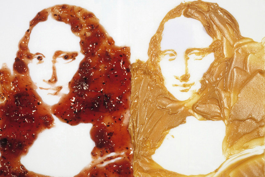 Double Mona Lisa (Peanut butter and Jelly), from the series After Warhol, 1999