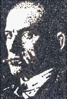 Vik Muniz-Mayakowsky, after Rodchenko (Pictures of Caviar)-2005