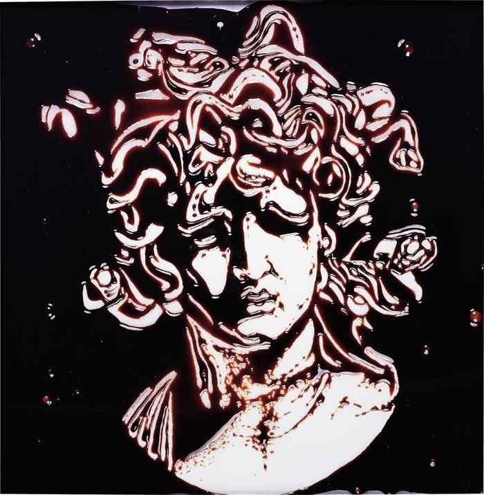 Vik Muniz-Medusa after Bernini (Picture of Chocolate)-2003