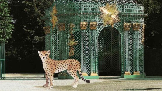 Vikky Alexander - Cheetah and Pavilion at Sans Souci, 2013 - Image via finearts