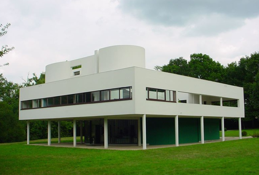 Departure from the classical history of architecture is the great villa Savoye by Le Corbusier