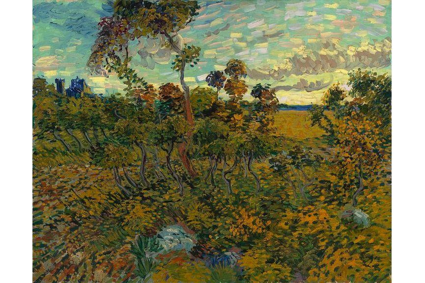 Vincent Van Gogh - Sunset at Montmajour, 1888, among rediscovered paintings