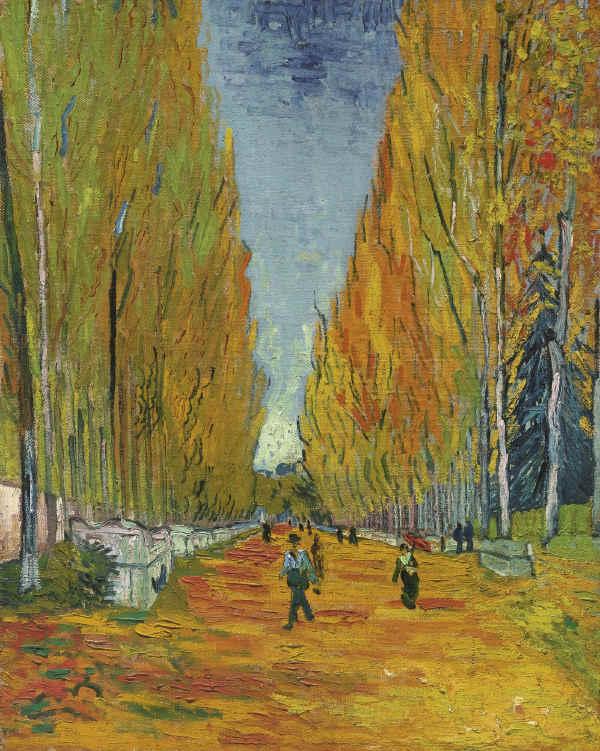 Vincent van Gogh-L'Allee des Alyscamps-1888