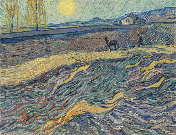 Vincent van Gogh - Laboureur dans un champ, painted in Saint Rémy, early September 1889