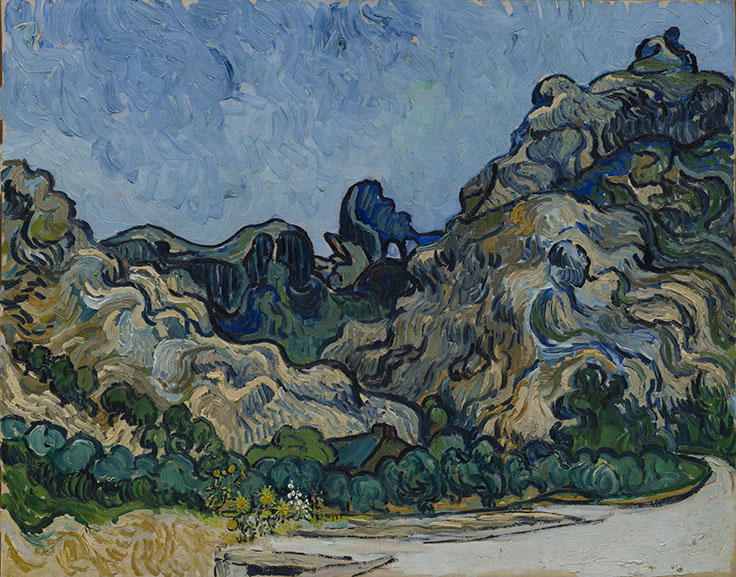 Vincent van Gogh - Mountains at Saint-Remy