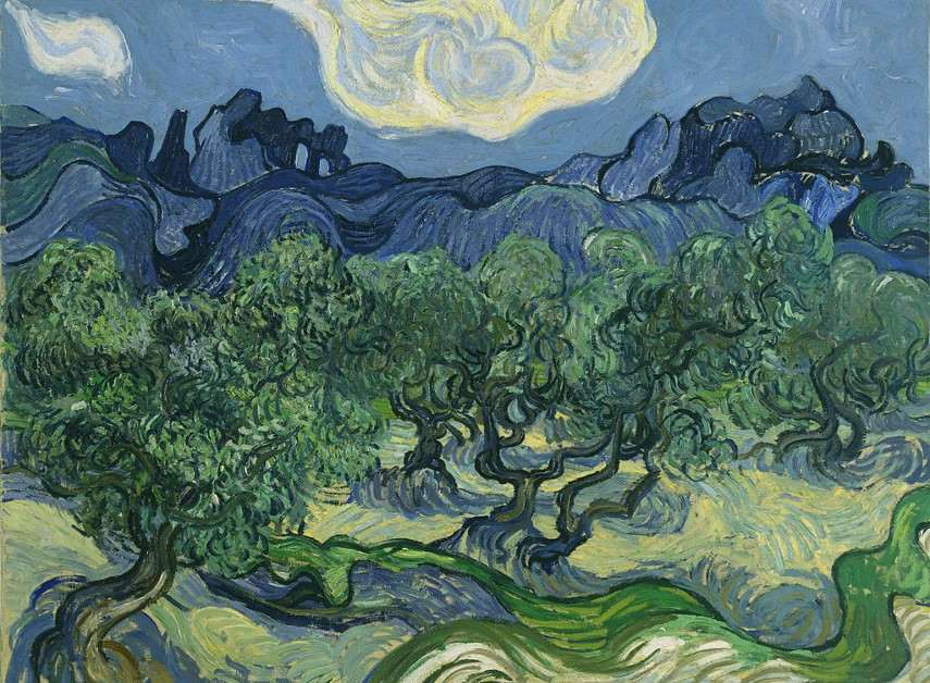 Vincent van Gogh - Olive Trees with the Alpilles in the Background, 1889
