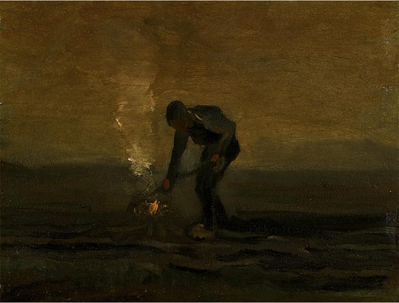 Vincent van Gogh - Paysan brulant de mauvaises herbes
