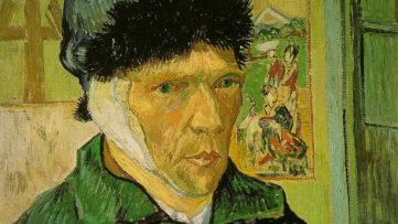 Vincent van Gogh - Self-Portrait With a Bandaged Ear, 1889