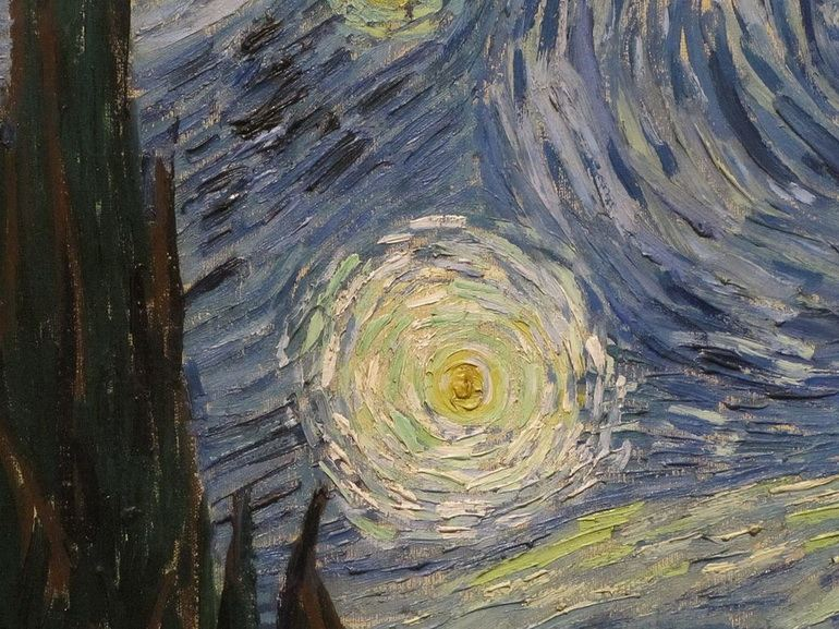 Vincent van Gogh - Starry Night, detail of the Starry Night