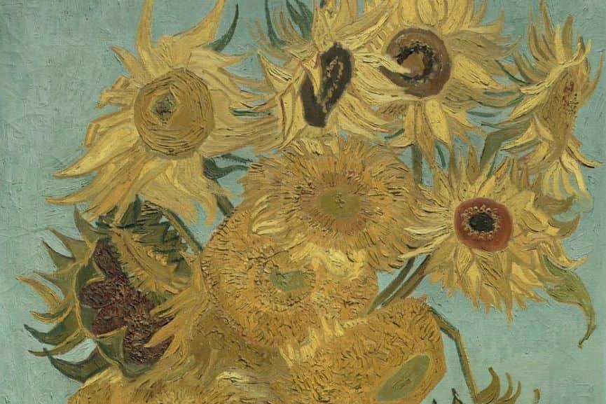 Sunflowers, 1888-89 (detail), Philadelphia Museum of Art