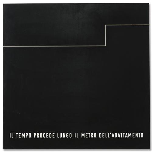 Vincenzo Agnetti-Il Tempo Procede Lungo Il Metro Dell'Adattamento-1970