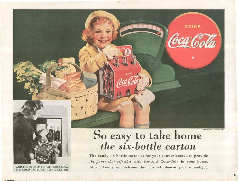 Vintage Coca-Cola Ad, via businessinsider com