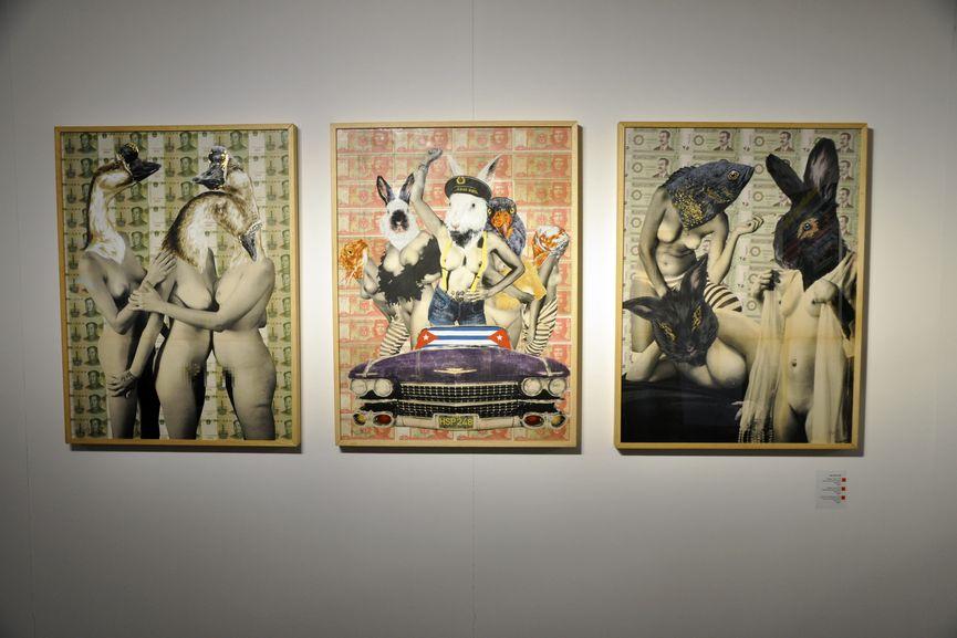 Vinz Feel Free - Pixelated. China, 2018 (left); Jinteres. Cuba, 2018 (middle); Haren de Oro Negro. Irak, 2018 (right)