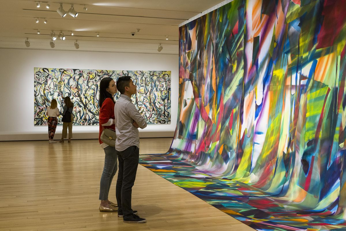 Katharina Grosse and Jackson Pollock Compare Their Murals at