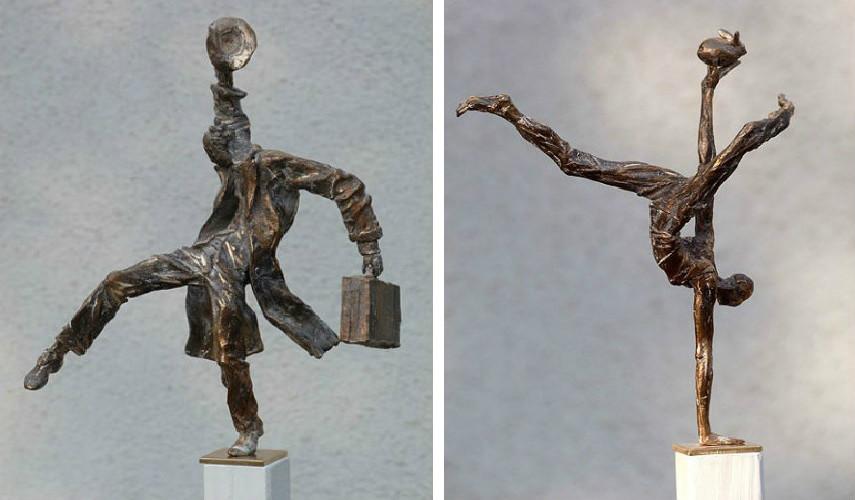 Vitali Safronov - Balance Fruherentner, 2011 (Left) - Balance freier Kunstler, 2011 (Right)