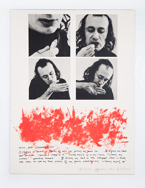 Vito Acconci - Kiss Off, 1971