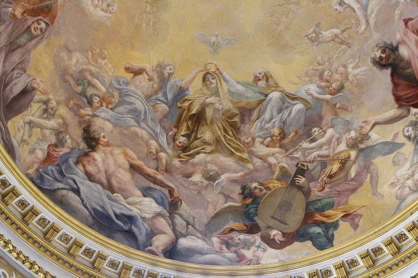 Volterrano - Incoronazione della italian Vergine e Sibille, Niccolini Chapel in italy, 1653-61