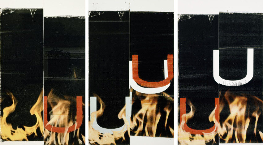 Wade Guyton new modern inkjet paintings and works from 2008 and 2013 are in museum
