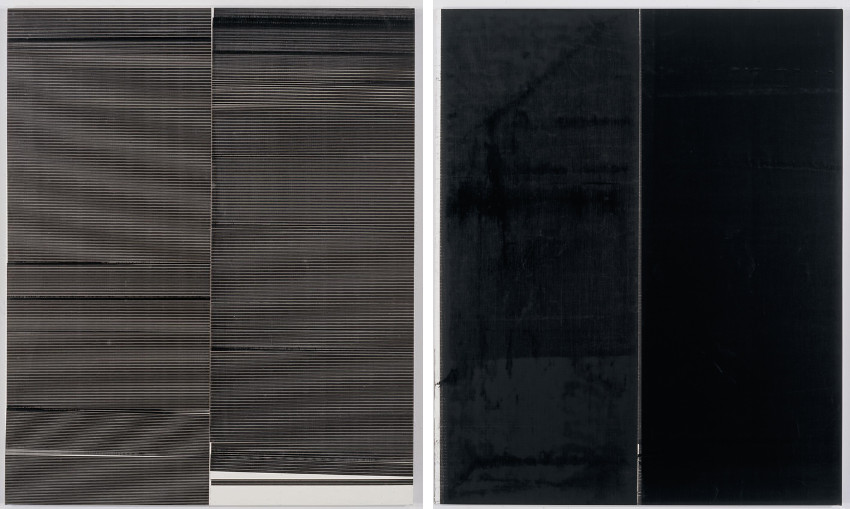 Wade Guyton made new modern works in 2008 and 2013 and showed them at museum