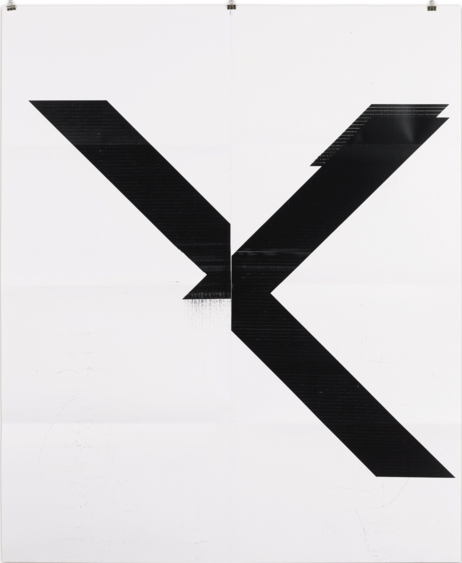 Wade Guyton-X Poster (Untitled 2007 Epson Ultrachrome Inkjet On Linen 84 X 69 In Wg1999)-2015