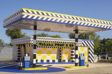 Camille Walala Turned This Fort Smith Gas Station From Vintage to Vibrant!