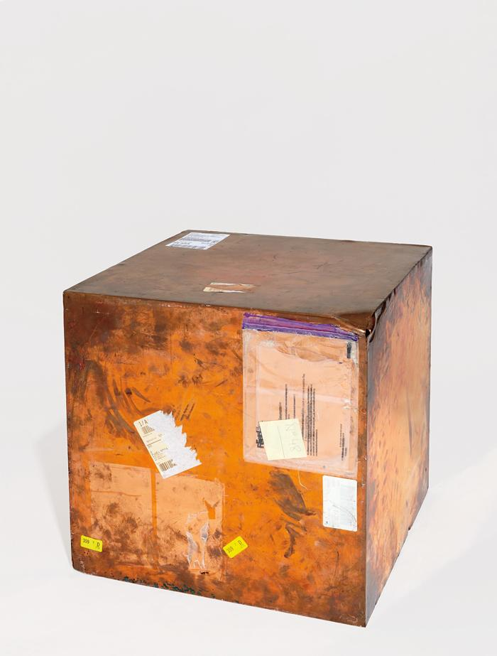 Walead Beshty-24-inch Copper (FedEx® Large Kraft Box ©2005 FEDEX 330510), Express Saver, Torrance, CA-New York trk #648262697493, October 5-8, 2015-2010