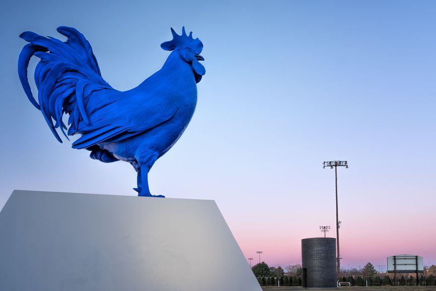 Walker Art Center, Hahn/Cock by Katharina Fritsch, via Lorie Shaull