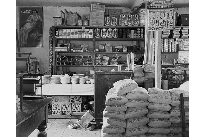 One of the prints from the photo book Walker Evans - General store interior. Moundville, Alabama, one of the photos from American Photographs