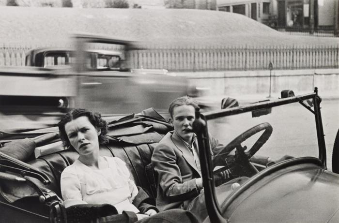 Walker Evans-Parked Car, Small Town, Main Street, Ossining, New York-1932