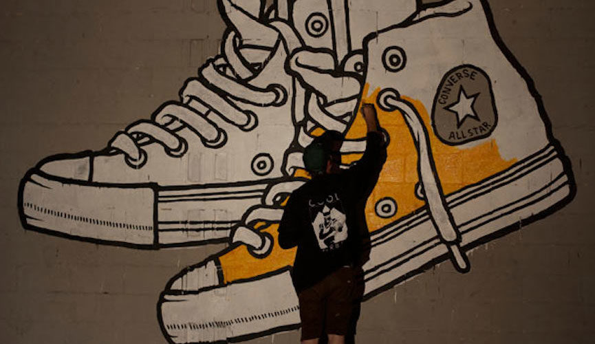 Chucks graffiti