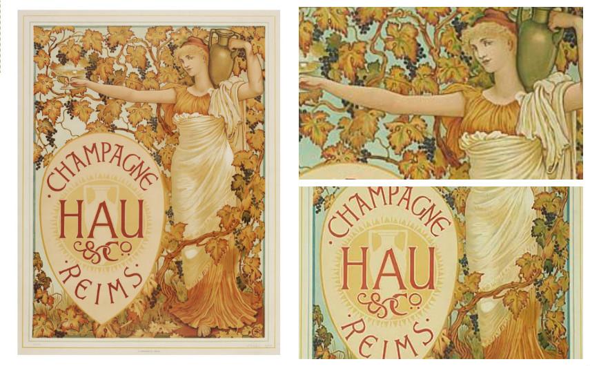 Walter Crane – Champagne Hau & Co. Reims - 1894