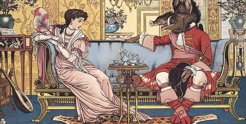 Walter Crane - Beauty and the Beast (Detail) - image via alchetron.com