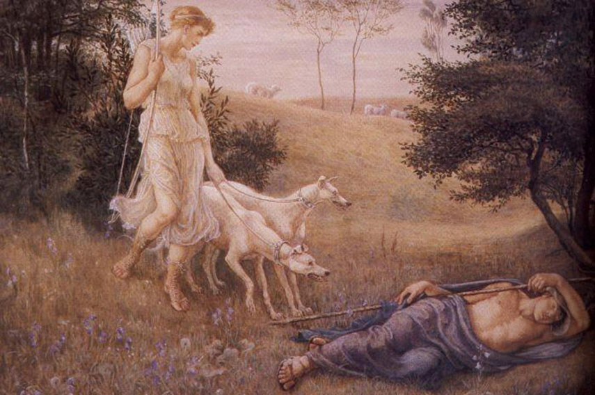 search children's book gallery prints home british  - Diana and Endimion, 1883 - via artmagick.com
