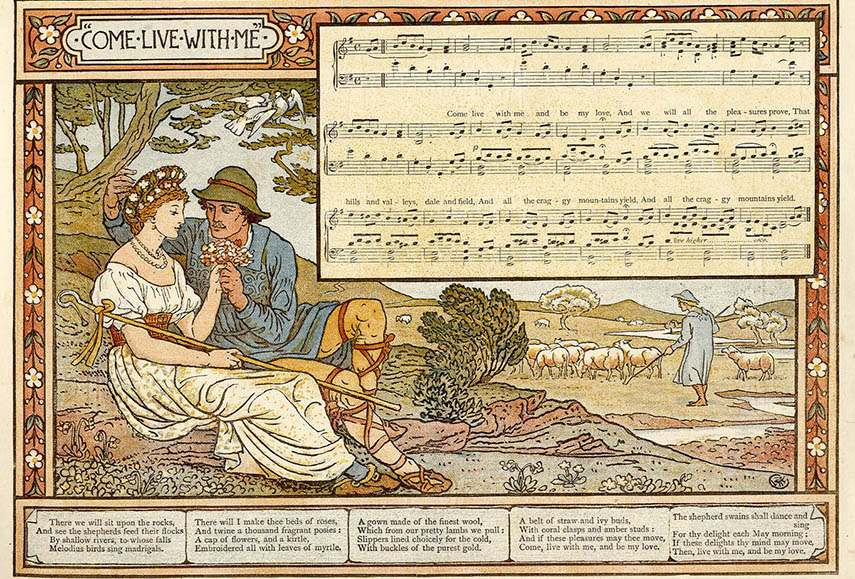 walter home book gallery prints home british  Walter Crane - Pan Pipes, 1883 - image via fulltable.com