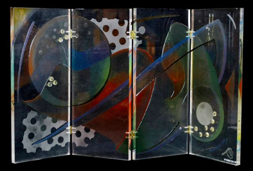Walter Fydryck - Abstract Panel, 1995 - image via jlevines.hibid.com.jpg