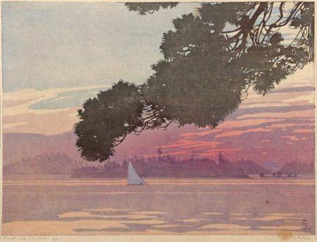 Walter Joseph Phillips-Sunset Lake of the Woods-1919