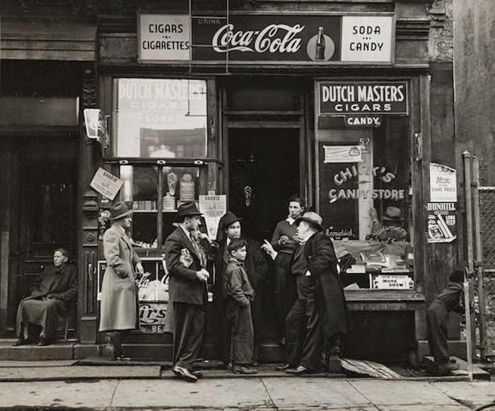 Walter Rosenblum-Chick's Candy Store, Pitt Street, New York-1938