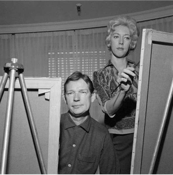 Walter and Margaret Keane work side by side in 1961. Photograph BettmannCorbis