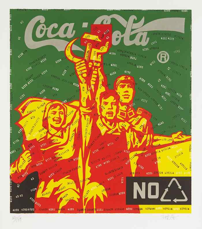Wang Guangyi-Coca Cola (Green), from Great Criticism-2006