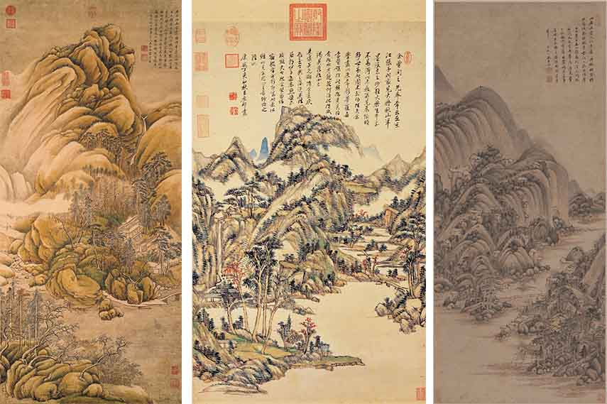 Chinese Landscape Painting painting  chinese  ink artist  brush  museum painting  paintings  song  mountain  natural