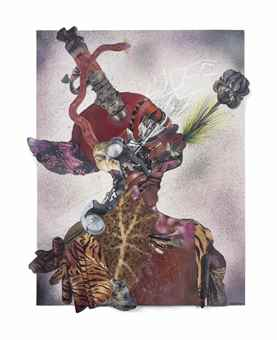 Wangechi Mutu-I speak Black Orchid through my Mouth-2015