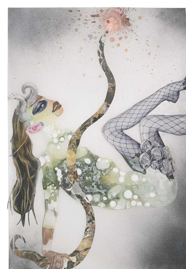 Wangechi Mutu-Untitled (Female In Fishnet)-2005
