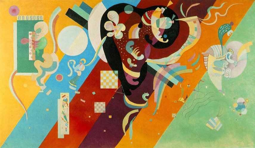 Wassily Kandinsky - Composition IX, 1936 - abstract blue work forms style