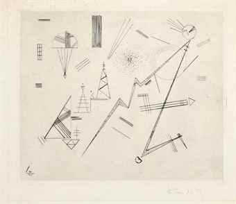 Wassily Kandinsky-Radierung fur den Kreis der Freunde des Bauhauses-1932