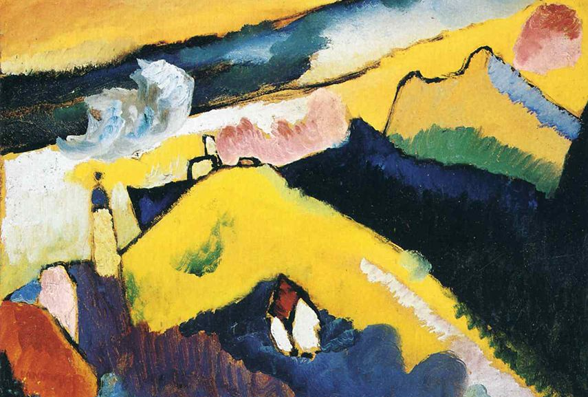 Wassily Kandinsky mountain landscape with church
