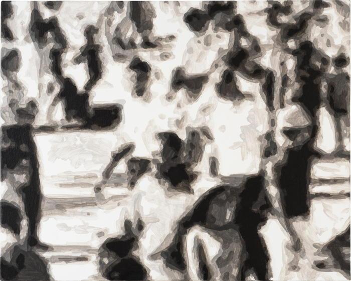 Wayne Gonzales-Waiting Crowd-2007